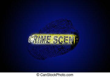 La escena del crimen es azul