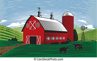 La escena del granero