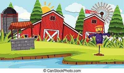 La escena del granero rojo
