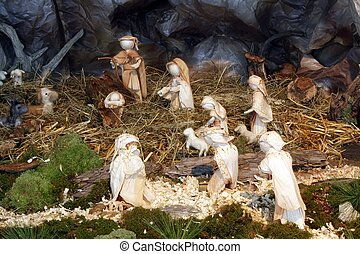 La escena del nacimiento