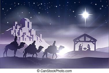 La escena navideña