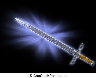 La espada mágica de batalla