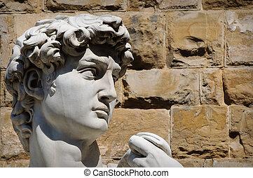 La estatua de David en Florencia Italia
