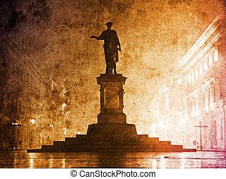 La estatua de Duc de Richelieu en Ucrania, Odessa.