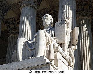 La estatua de la Corte Suprema