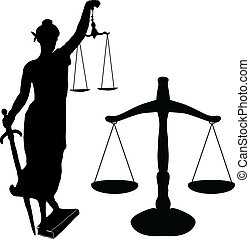 La estatua de la justicia y Libra