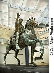 La estatua de Marcus aurelius.