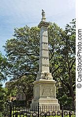 La estatua de Pulaski en Savannah