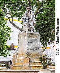 La estatua de Shakespeare en Londres
