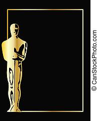 La estatua de vector dorado de fondo