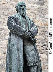 La estatua de William Barnes en Dorchester
