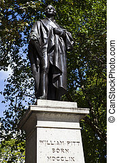 La estatua de William Pit en Londres