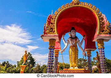 La estatua del Señor Shiva en Koh Samui