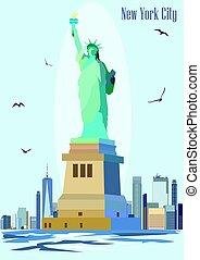 La estatua del vector de la libertad