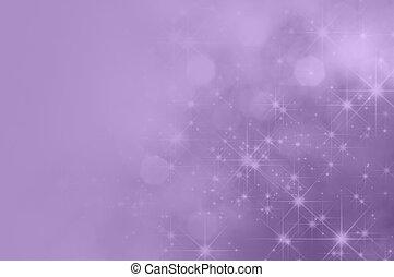 La estrella púrpura lila se desvanece