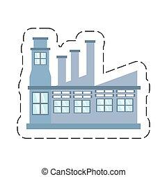 La estructura de la fábrica de dibujos animados