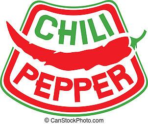 La etiqueta Chili Pepper