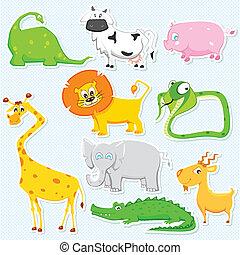 La etiqueta de animales