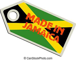 La etiqueta del vector está hecha en jamaica