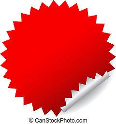 La etiqueta del vector rojo