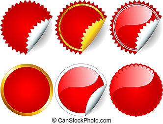 La etiqueta roja