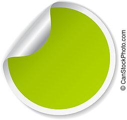 La etiqueta verde del vector