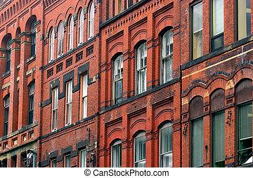 La fachada del viejo edificio