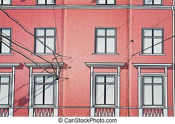La fachada pintada