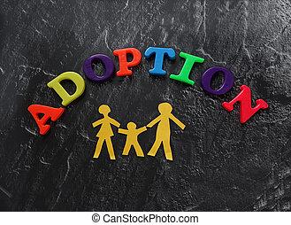 La familia de las cartas de adopción