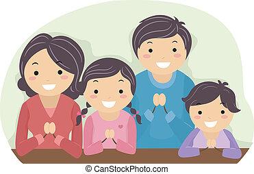 La familia reza