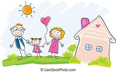 La familia se muda a una nueva casa