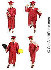 La foto de los graduados - múltiples puntos de vista