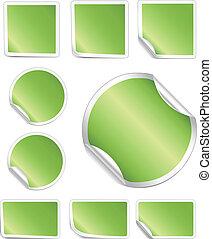 La frontera blanca de pelar pegatinas verdes