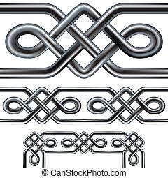 La frontera de cuerdas celtas sin costura