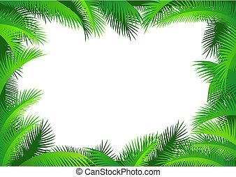 La frontera de la hoja Palma