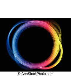 La frontera del círculo del arco iris.