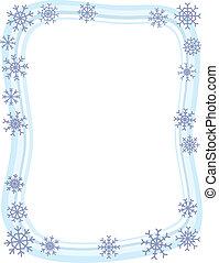 La frontera del copo de nieve de invierno