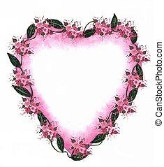 La frontera del corazón rosa