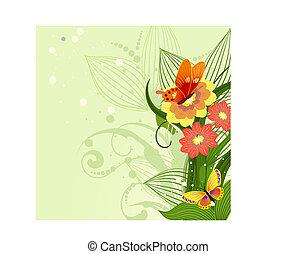 La frontera del patrón floral