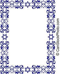 La frontera floral judía