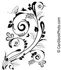 La frontera floral para su diseño
