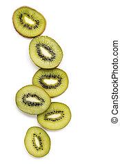 La fruta Kiwi está aislada