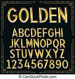 La fuente dorada del vector