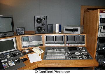 La galería del estudio de TV