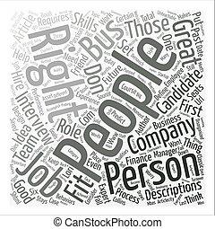 La gente adecuada en el autobús se queda con el concepto de la palabra de fondo de la compañía
