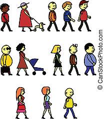 La gente camina