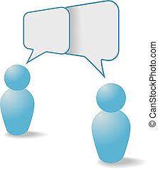 La gente comparte los símbolos de la comunicación