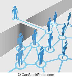 La gente conecta un equipo de fusión de la red