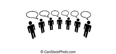 La gente de la red social de los medios conecta el blog