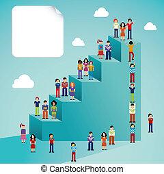 La gente de la red social tiene un crecimiento global